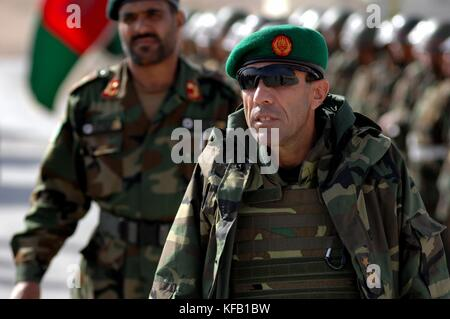 Afghan National Army Vice Commander Qs Ime visits Afghan soldiers during Operation Enduring Freedom February 25, - Stock Photo