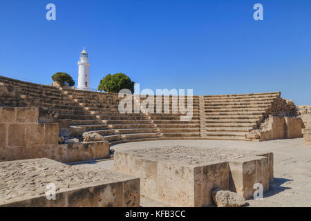 Paphos Archaeological Park, Paphos, Cyprus - Stock Photo