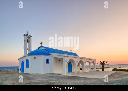 Ayia Thekla Cave Chapel, Sotira, Agia Napa, Cyprus - Stock Photo