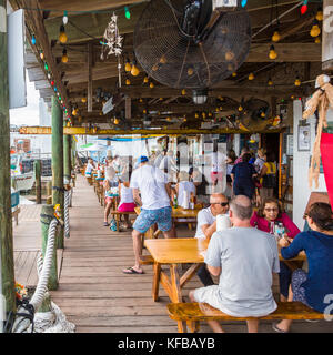 Star Fish Co Seafood Market and Dockside Restaurant in the historic Florida fishing village of Cortez in the United - Stock Photo