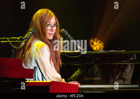 Madison, Wisconsin, USA. 26th Oct, 2017. TORI AMOS performs live during the Native Invader tour at the Orpheum Theater - Stock Photo