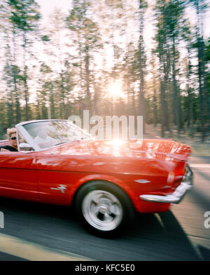 Blurred Motion Of Car With Sunbeam Stock Photo Royalty