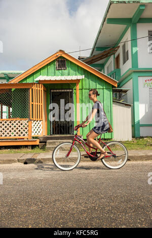 BELIZE, Punta Gorda, Toledo, guests staying at Belcampo Belize Lodge and Jungle Farm can ride bikes around the town - Stock Photo