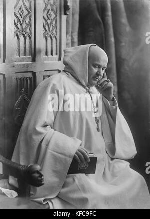 Cardinal Marre, abbot of Notre Dame d'Igny where Joris Karl Huysmans made his retirement of conversion to catholicism - Stock Photo