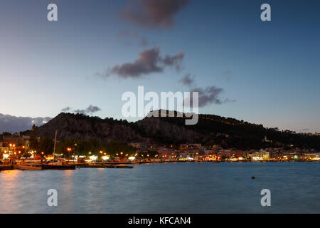 View of Zakynthos town over the sea, Greece. - Stock Photo