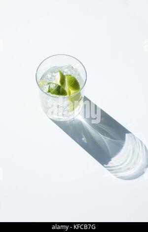 Gin Tonic in glass - Stock Photo