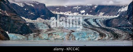USA, Alaska, Glacier Bay, breathtaking views of Johns Hopkins Glacier in Johns Hopkins Inlet, seen from aboard the - Stock Photo