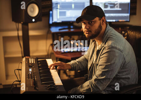 USA, Los Angeles - September 19, 2017. The Danish music producer, beatmaker and composer Hennedub is portrayed in - Stock Photo