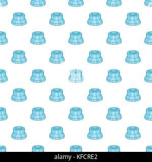 Vaping device spare part pattern, cartoon style - Stock Photo