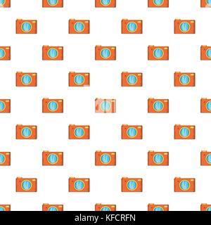 Retro camera pattern, cartoon style - Stock Photo