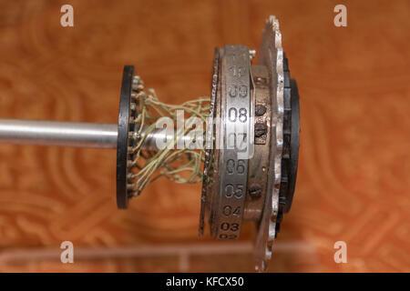 Rotor Machine, Enigma, Cipher Coding Machine from World War II - Stock Photo