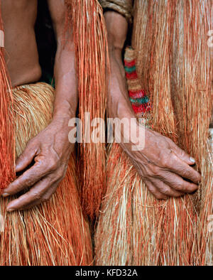 PERU, Amazon Rainforest, South America, Latin America, close-up of an Yagua Indian people hand - Stock Photo