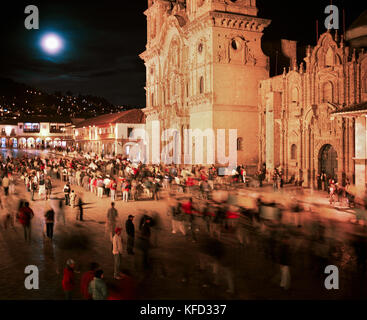 PERU, Cusco, South America, Latin America, exterior of a church in Plaza De Armas in Cusco. - Stock Photo