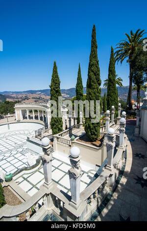 The luxurious Neptune Pools, Hearst castle, Big Sur, California, USA - Stock Photo
