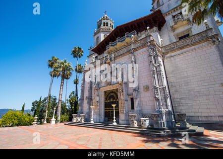 Hearst castle, Big Sur, California, USA - Stock Photo
