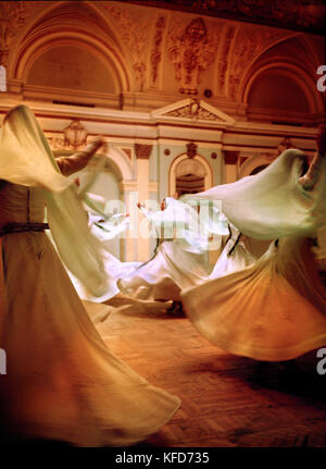 REPUBLIC OF GEORGIA, Whirling Dervishes performing, Tbilisi - Stock Photo