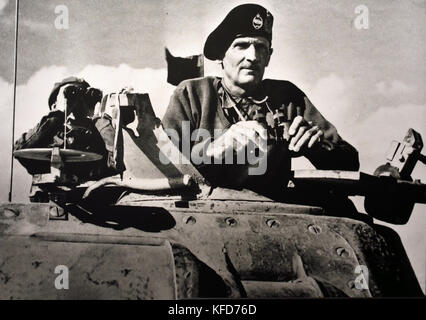 General Montgomery in command of the British 8th Army 1942 World War II ( Field Marshal Bernard Law Montgomery, - Stock Photo