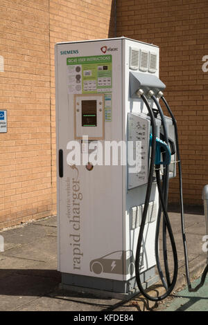Siemans electric vehicle charging point, QC45 - Stock Photo