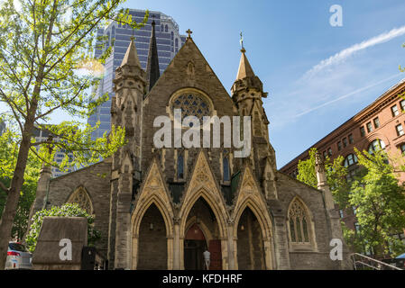 Montreal Anglican Christ Church Cathedral - Stock Photo