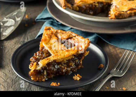 Sweet Homemade Mincemeat Pie for the Holidays - Stock Photo