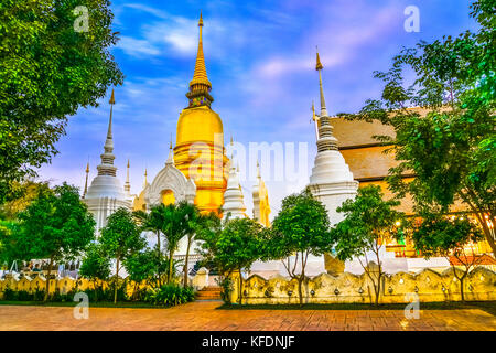 Wat Suan Dok, a Buddhist temple, Wat in Chiang Mai, northern Thailand. It's a Royal Temple of the Third Class. The - Stock Photo