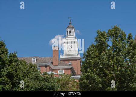 Gilman Hall, Johns Hopkins University, Baltimore, Maryland, USA - Stock Photo