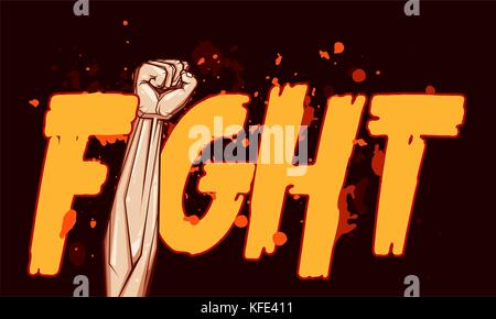 Clenched Fist Vector Illustration For Resistance And Revolution