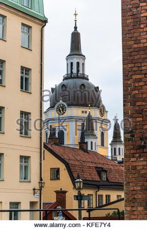 Baroque St Catherine Church, Sodermalm, Stockholm, Sweden - Stock Photo