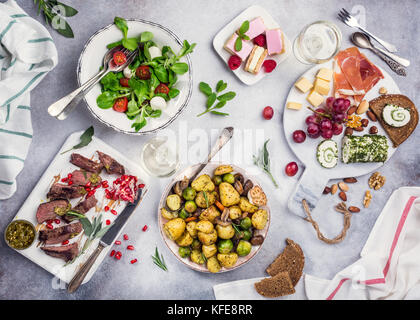 Delicious dinner table - Stock Photo