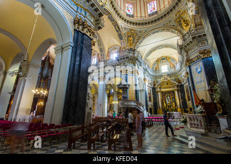 Nice Cathedral (Basilique-Cathedrale Sainte-Marie et Sainte-Reparate), located in the old town of Nice in the south - Stock Photo