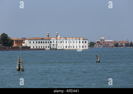 Small Island near Venice in Italy called Isola di San Servolo - Stock Photo