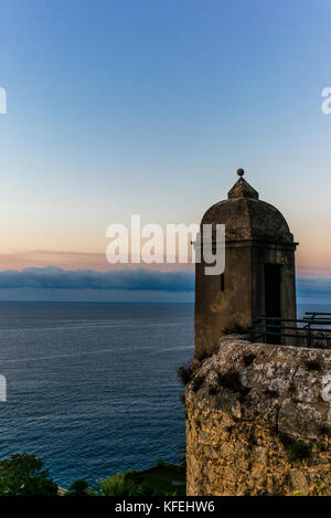View on the Mediterranean sea from the hills of Monaco - 3 - Stock Photo