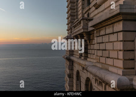 View on the Mediterranean sea from the hills of Monaco - 5 - Stock Photo