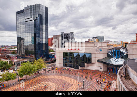 The Hyatt Regency and Birmingham Symphony Hall, Broad Street, Birmingham, England - Stock Photo