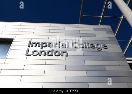 The Sign with Imperial College London University. - Stock Photo