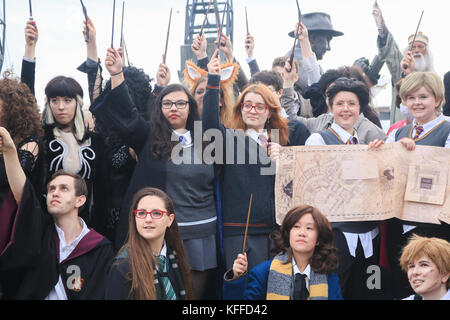 London UK. 28th October 2017.Participants  dressed as Harry Potter character  on  the second day of the three day - Stock Photo