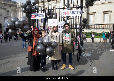 London,UK,28th October 2017,Turkey Purge Demonstration in Trafalgar Square London©Keith Larby/Alamy live News - Stock Photo