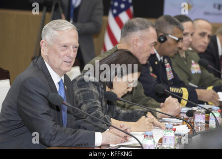 Seoul, South Korea. 28th Oct, 2017. October 28, 2017-Defense Ministry, Seoul, South Korea-In this photo released - Stock Photo