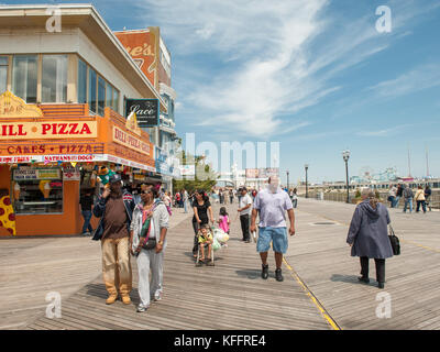 On the Boardwalk in Atlantic City, New Jersey, USA - Stock Photo