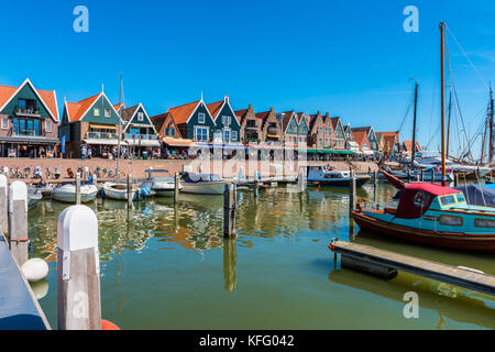 View on the town center of Volendam, Netherlands. Volendam is a popular tourist attraction in the Netherlands, 20 - Stock Photo