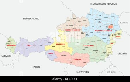 Vienna Austria map Stock Photo 125745732 Alamy