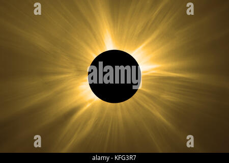 Total Solar Eclipse. - Stock Photo