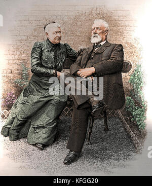Jules Verne and Madame Verne - Stock Photo