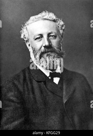 Jules Verne, Jules Gabriel Verne, French novelist - Stock Photo