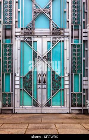 WA14016-00...WASHINGTON - Doorway at the Asin Museum in Volenteer Park, Seattle. - Stock Photo