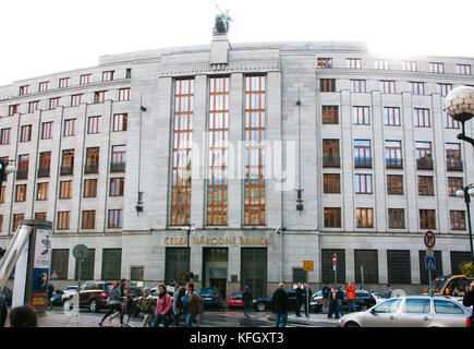 Czech National Bank, Czech Republic, Prague, 27. October 2017 - Stock Photo