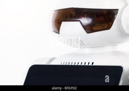 Robotics , artificial intelligence trends technology concept. Autonomous personal assistant personal robot home - Stock Photo