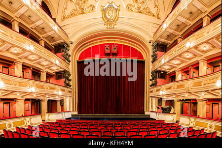 Interior of National Theatre in Belgrade, Serbia. Theatre was opened at 1869. - Stock Photo