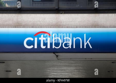 NEW YORK, USA - AUGUST 24, 2017: Citibank  in nEW yORK. Citibank is banking division of financial services multinational - Stock Photo