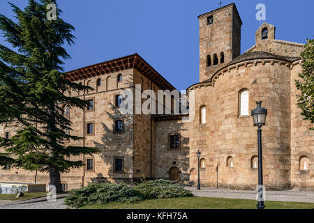 Monastery of San Salvador de Leyre, the oldest and beloved of the old King of Navarre, Spain - Stock Photo